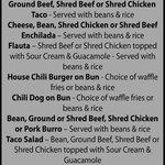 Xpress menu