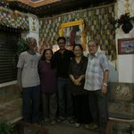 utse hotel in thamel entrance with family owners