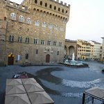 Early morning view from room of Piazza della Signoria