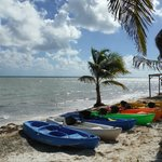 View of the beach, Kayaks, Maya Chan