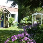 The B&B garden entrance is on the left. Sit in the arbour, and enjoy a cuppa and relax.
