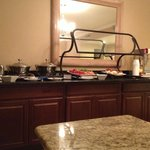 Buffet table in executive lounge.