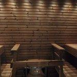 Private sauna in room