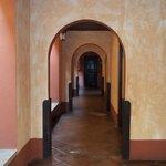 Este es el hall al que dan las habitaciones del sector en el que estuve.