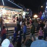 Lantern parade with Santa
