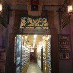 Entrance of hostel - it's a tourist information center!