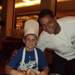 My son and Chef Hany