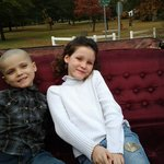 Kids on the carriage ride having a blast!
