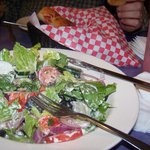 Roasted pepper on wonderful salad.