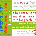 One meal, one drink = One free medical consultation for people in need