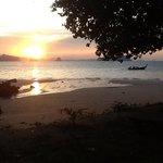 Sonnenaufgang direkt vor unserer Villa