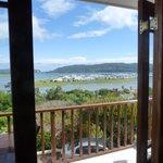 Blich durchs Fenster auf die Lagune