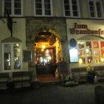 Inngangspartiet i Hamburg's eldste hus