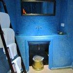 Baño de la habitación azul