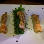 Langoustines with sesame seeds