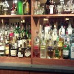 In the pub, liquor selection