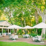 Enjoy dinner in our gardens