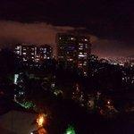 Excelente vista en las noches desde las ventanas