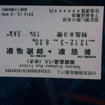 The bus ticket from Shinjuku Station