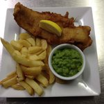 Fresh cod and chips