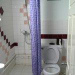 toilet plus shower area