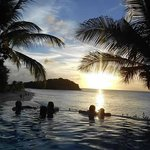 Perfect sunset from the infinity pool