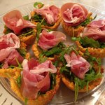 Parmesan cheese cups - all ready. Beautiful presentation, easy to make.