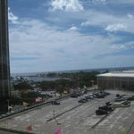 View of the mall and Ala Moana beach