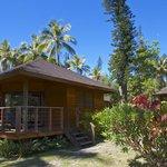 Esterno bungalow nel giardino tropicale