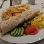 Petra wrap for dinner at the guest house restsurant