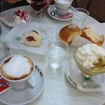 Classic Sicilian breakfast at nain street cafe- 5 min walk from Casa Castellet