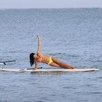 Audrey Meyer training SUP Yoga at Vela Cabarete