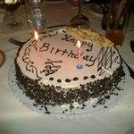 Birthday cake - Thank you