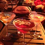 Dirty Martini, Manhattan and Cosmo! All yummy