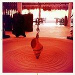 Open air lobby.  Very zen.