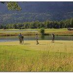 Beautiful evening golf