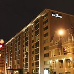 Evening shot of the front of the Palomar