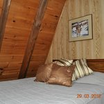 Double bed in 1 Bedroom A-Frame suite