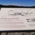Powder River pass sign