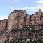 Tall steep canyon