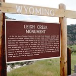 Leigh Creek Monument sign