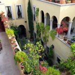 Courtyard View from the Rooftop Veranda