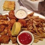Mix fried seafood