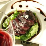 beef Tagliata with arugula and balsamic glaze