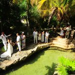 mayan ceremony at the villas gardens