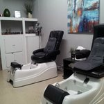 Virginia's Relaxing and inviting Spa Pedicure chairs