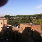 The view from our room overlooking the Villa Borghese