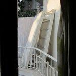 Vue sur balcon débarras