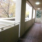 cobblestone/brick hallway