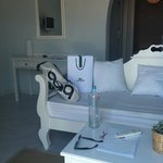 I liked the all white furnishings